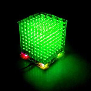 Image 4 - Gorąca sprzedaż 3D 8S 8x8x8 mini led światło elektroniczne cubeeds diy zestaw na prezent na boże narodzenie/noworoczny prezent