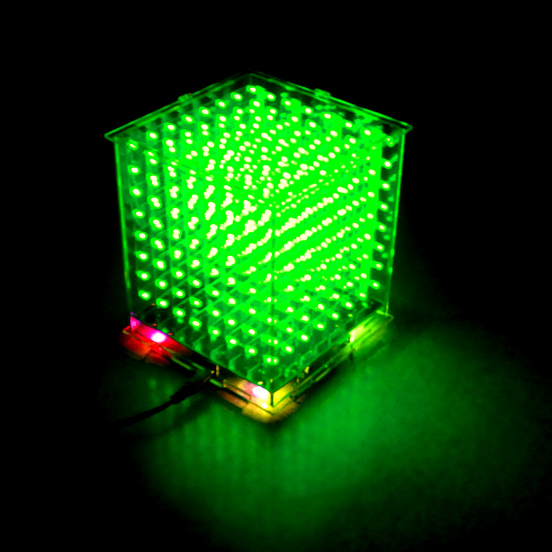 Hot sale 3D 8S 8x8x8 mini led electronic light cubeeds diy kit for Christmas Gift/New Year gift