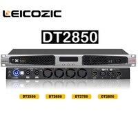 Leikozic dt2850 dsp classe d amplificador 850w rms 1400w 4ohms digital amplificador de comutação da fonte alimentação amplificador áudio profissional