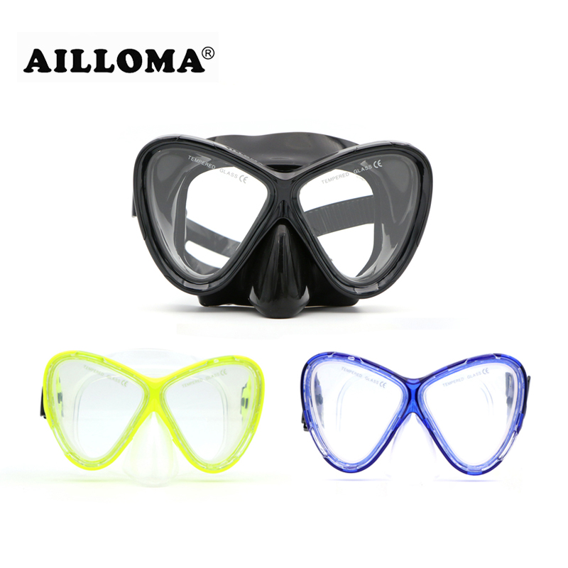 AILLOMA 스쿠버 다이빙 마스크 세트 실리콘 장비 풀 - 수상 스포츠 - 사진 5