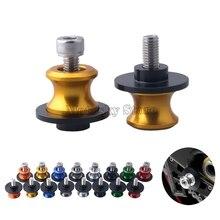 цена на Motorcycle Swingarm Spools slider 8mm stand screws Accessories For SUZUKI GSR 600 750 GSX-R 600 750 00-14