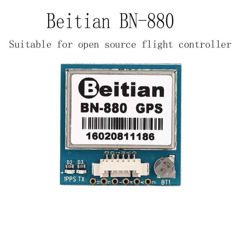 New Beitian <font><b>BN</b></font>-<font><b>880</b></font> Flight Control <font><b>GPS</b></font> Module Dual Module With Cable Connecotr For RC Multicopter Camera Drone FPV Parts image