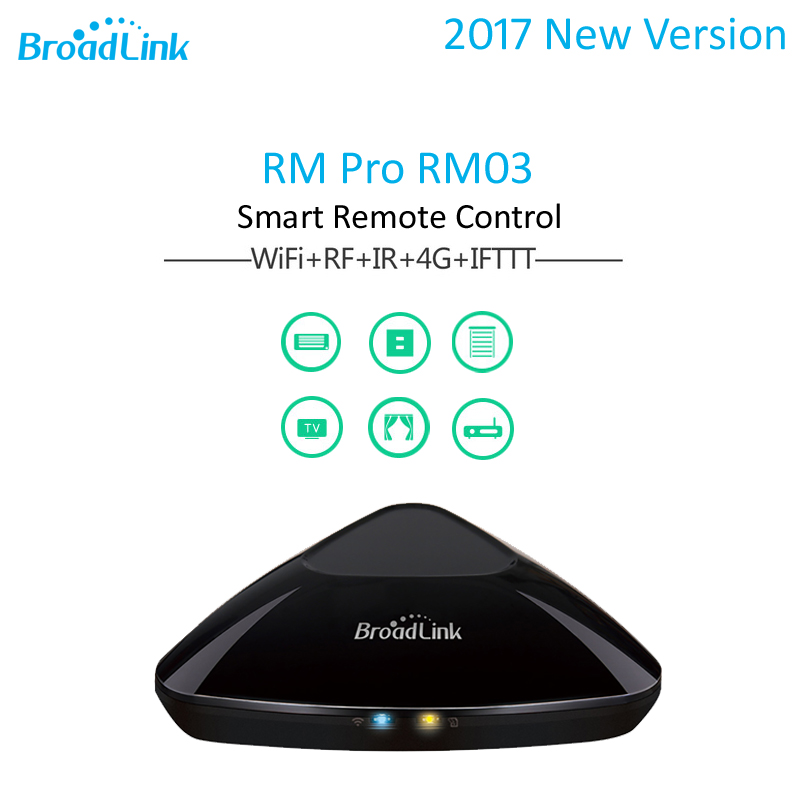 2017 New Broadlink RM pro RM03 Smart Home Automation Universal Intelligent Remote Controller WiFi+IR+RF Switch for iOS Android best broadlink rm3 rm pro rm mini3 smart home automation wifi ir rf universal remote controller intelligent for ios ipad android