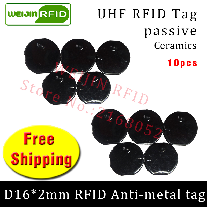 UHF RFID anti metal tag 915mhz 868mhz Alien Higgs3 EPC 10pcs free shipping D16mm*2mm small circular Ceramics passive RFID tags тарелка под пасту 25 5 см royal porcelain тарелка под пасту 25 5 см