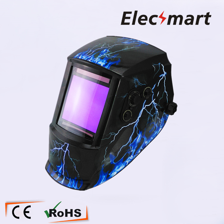 Flashing lightning Auto darkening welding helmet TIG MIG MMA electric welding mask/helmet/welder cap/lens for welding white skull solar auto darkening tig mig mma electric welding mask helmet welder cap lens for welding machine or plasma cutter