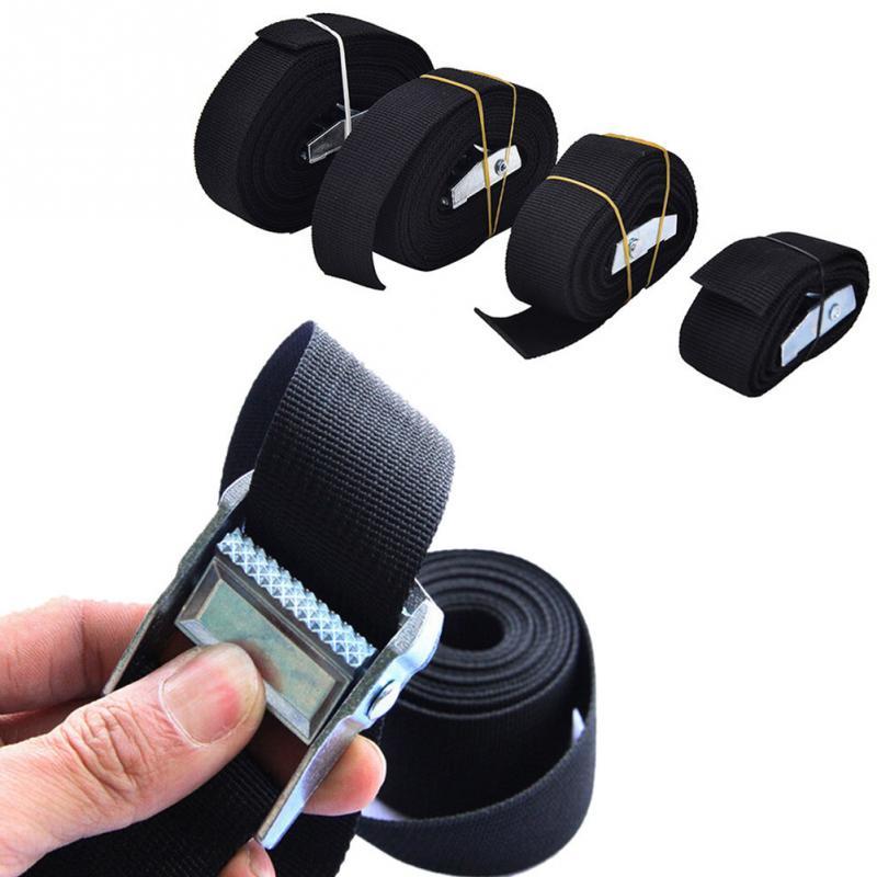 1m/2m/300cm/4m Suitcase Packing Straps Pack Cam Tie Down Nylon Strap Lash Luggage Bag Belt Metal Buckle #20