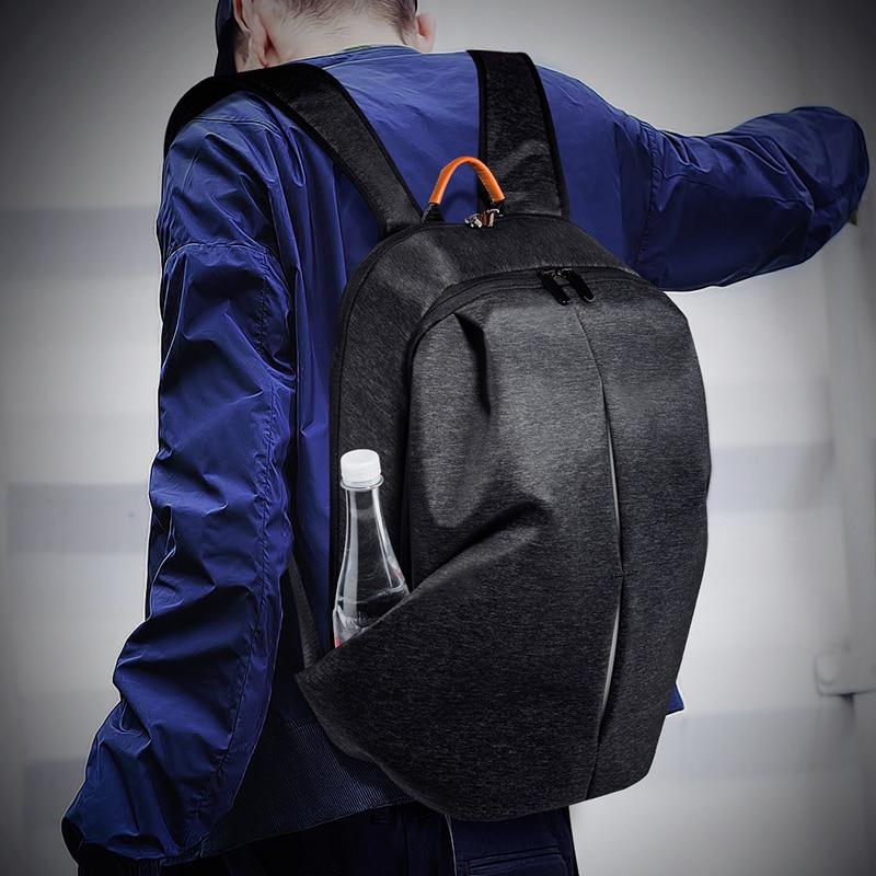 """Купить с кэшбэком FANLOSN Male Mochilas 15.6"""" Laptop Backpacks For Men School Key rings Bagpack whloesale Women Solid Rucksack Large Backpack"""