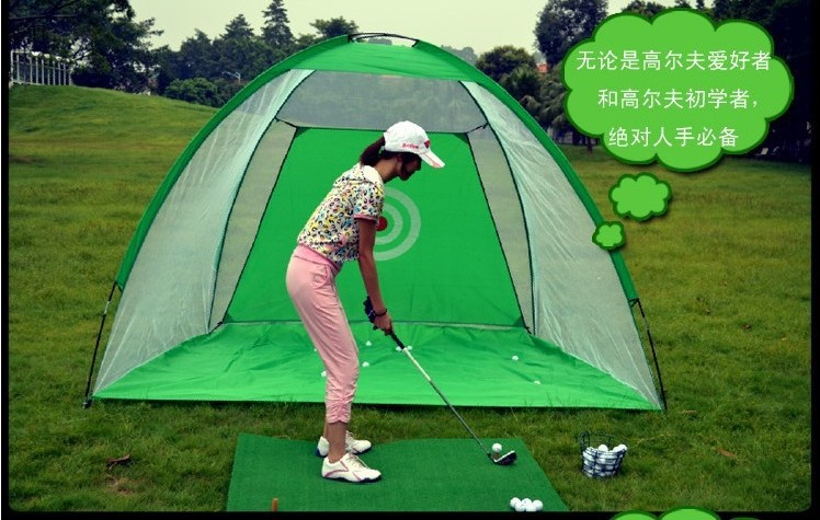 3M*2M Golf Training Aids Golf practice net Indoor exercises net  Cages with 60*30CM Mats For Adult