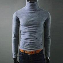 Männer Winter Feste Rollkragenpullover Männlichen Herbst hohe kragen Pullover Dünn und Weich Casual pullover Größe 2XL