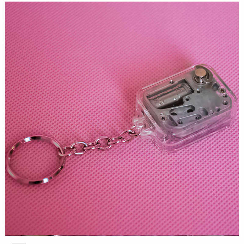 Llavero colgante hebilla caja de música mini reloj octave decoración caja de música lindo pequeño colgante joyería niños regalo musical llavero