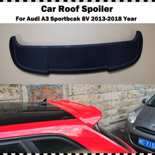 ABT style 2014-2018 Audi A3 8V Sportback spoiler High Quality ABS Material Car Rear Wing Matte black Primer Spoiler