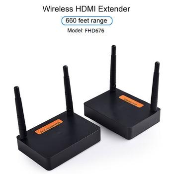 New 5.8 GHz / 2.8 GHz HDMI Extender Full HD 1080P 60Hz Wireless Audio Video Transmitter Receiver DOM668