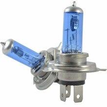цена на 2pcs New H4 Halogen bulbs Xenon Light Bulbs H4 P43T Super White 6000K 12V h4 55w halogen 60w Free Shipping