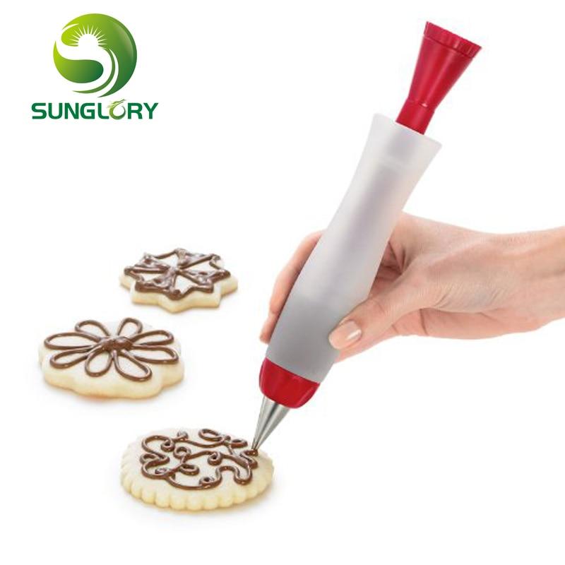 decoration pen cake decorating icing piping cream syringe tools baking