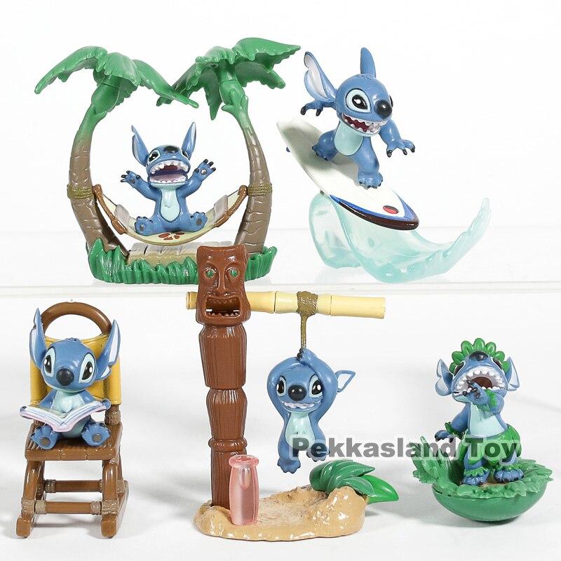 Lilo Stitch Dibujos Animados Kawaii Stitch Mini Figuras De Escritorio Pvc Modelo Coleccionable