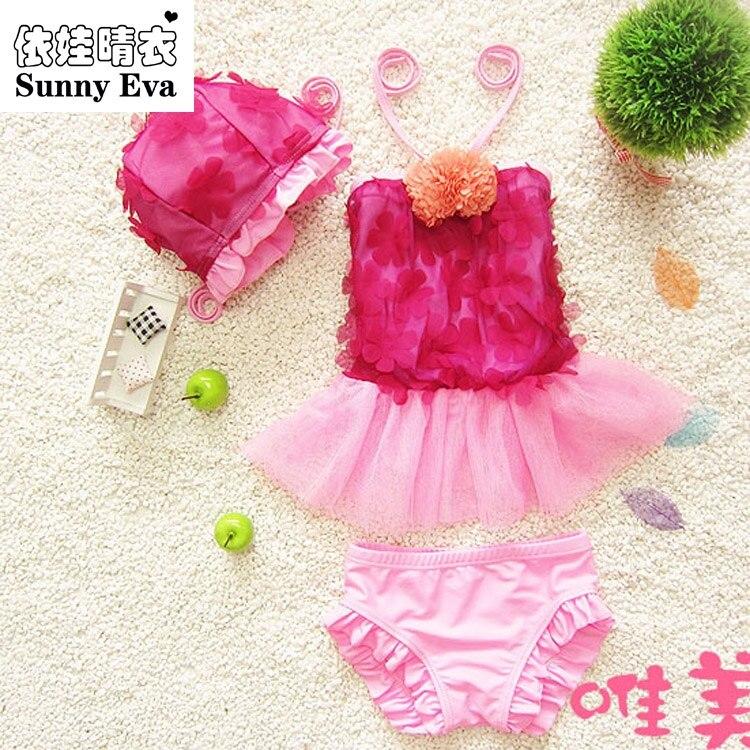 soleggiato eva costumi da bagno delle ragazze bebek bikini new kids costume da bagno per bambini