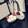 Hot 2 Pcs/Set Women Mouse Composite Bag Fashion Ladies Shoulder Handbag Purse Wallet PU Leather Handbags Bolsa Feminina