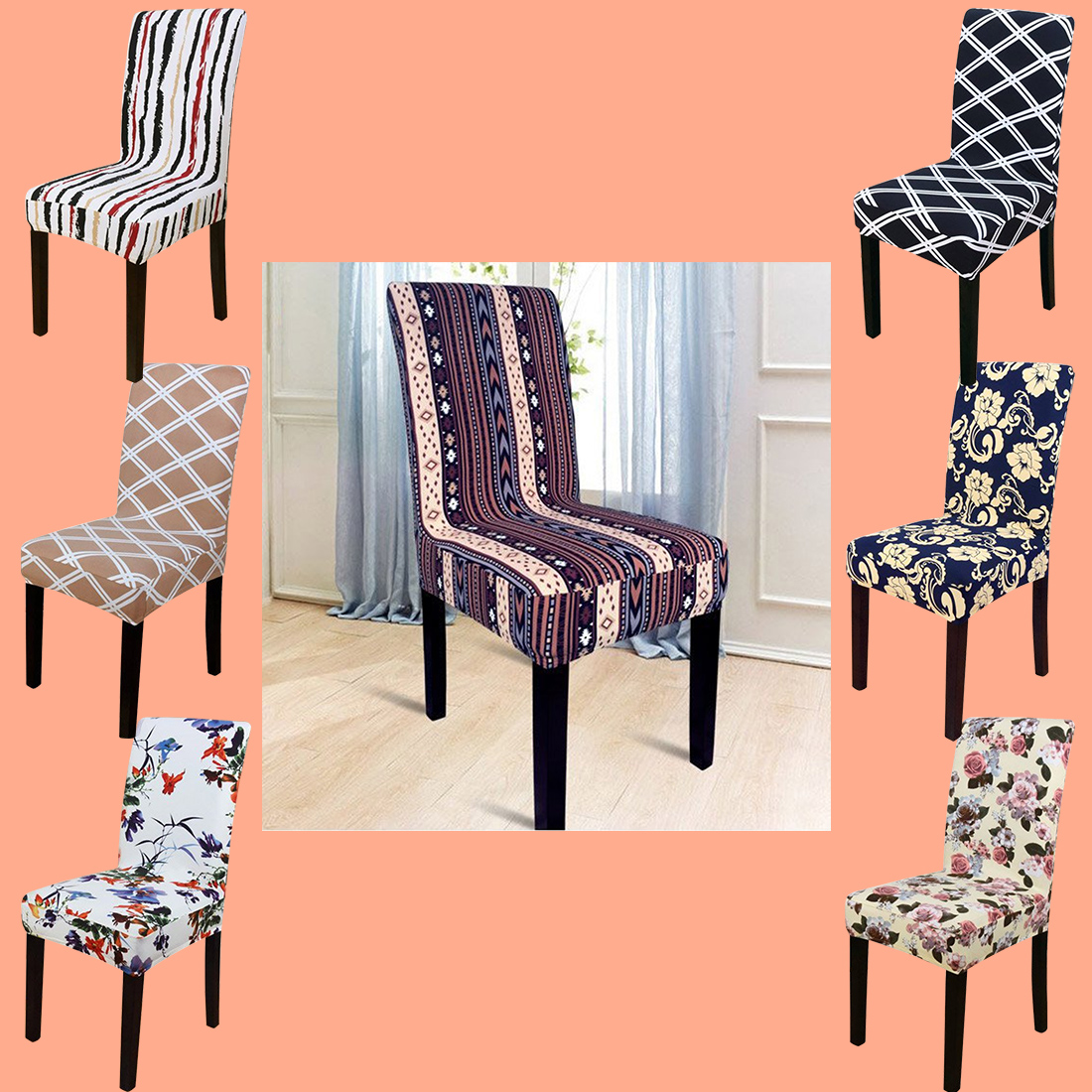 Free Shipping Home Decorators: 1Pc Free Shipping Stretch Home Decor Dining Chair Cover