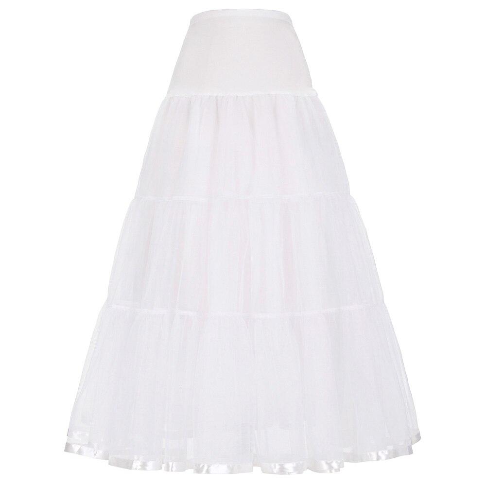 Mujeres negro rojo falda Retro para boda moda Vintage faldas largas  Crinoline Underskirt vestido de baile Empire Voile tul enaguas en Faldas de  La ropa de ... 8adbe51326a7