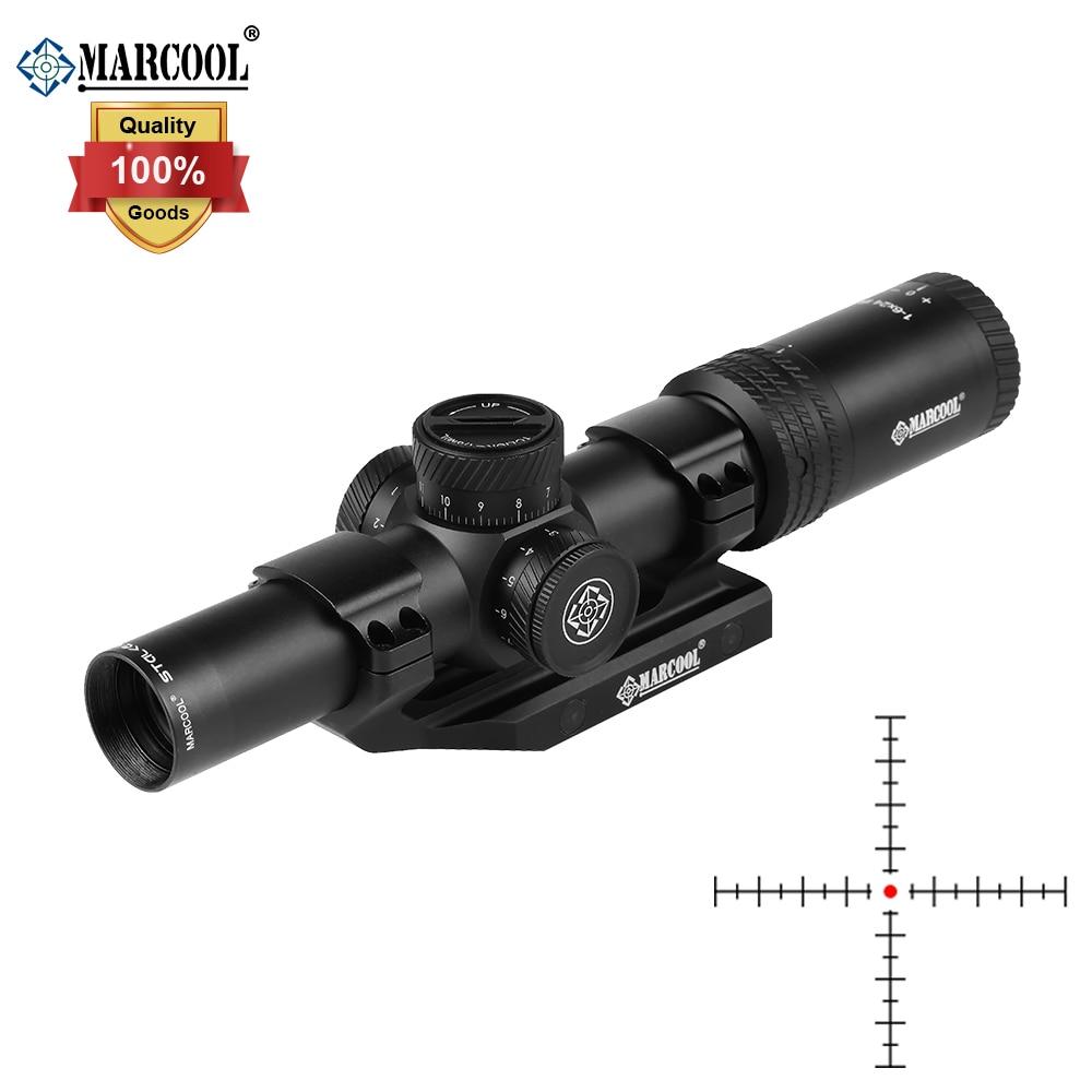 MARCOOL Optics 1-6x24 HD IR Illuminated Scope With Precsion Weaver Mount - Matte Black