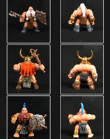6PCS Assembly Orcs Military Dwarf Model Action Figures Orcs War Toys For Birthday Gift Collection Puppets
