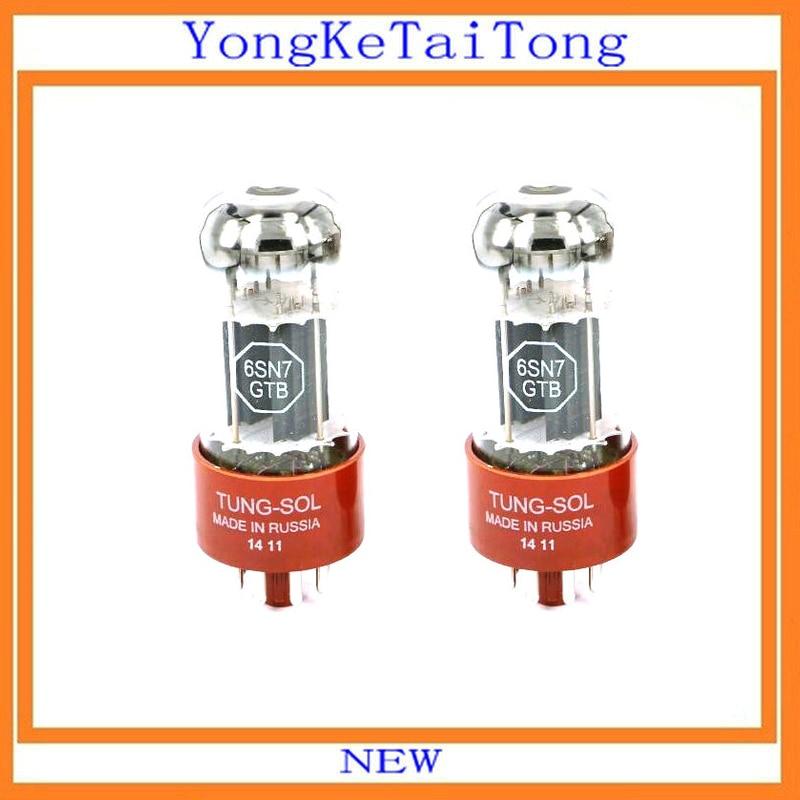 2PCS/LOT 6SN7 tubes TUNG-SOL Tungsol 6SN7GT Generation of 6N9P 6SL72PCS/LOT 6SN7 tubes TUNG-SOL Tungsol 6SN7GT Generation of 6N9P 6SL7