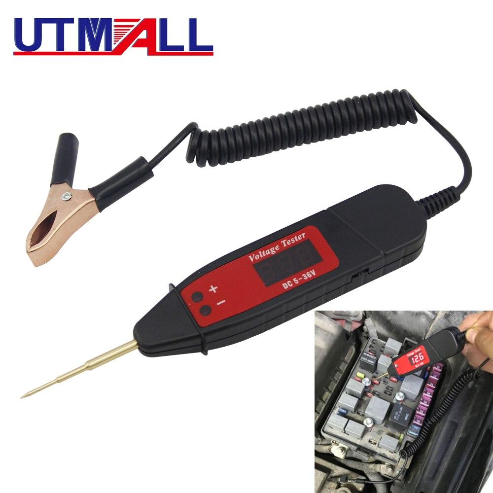 5-36V Digital Circuit Tester Voltage Meter Pen Car Circuit Scanner Power Probe