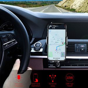Image 5 - Essager Qi Car Wireless Charger for iPhone Samsung S20 Xiaomi mi 10W Induction Car Mount Fast Wireless Charging Car Phone Holder