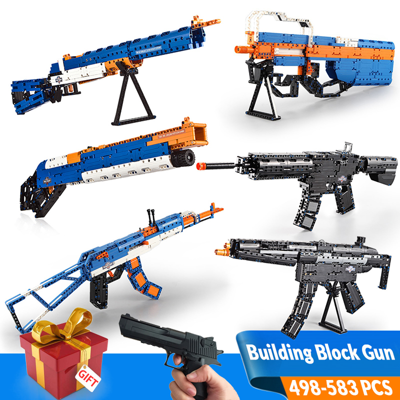 AK47 Revolver pistolet pistolet SWAT technique militaire armée modèle blocs de construction brique arme Airsoft Air Guns marque garçons jouets