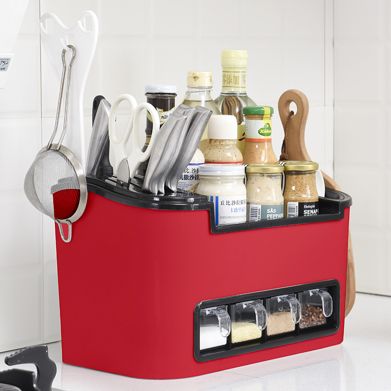 US $47.1 20% OFF|2018 new Multi function Kitchen rack Tool box for  kitchenware supplies Condiment box for soy sauce and vinegar-in Racks &  Holders ...