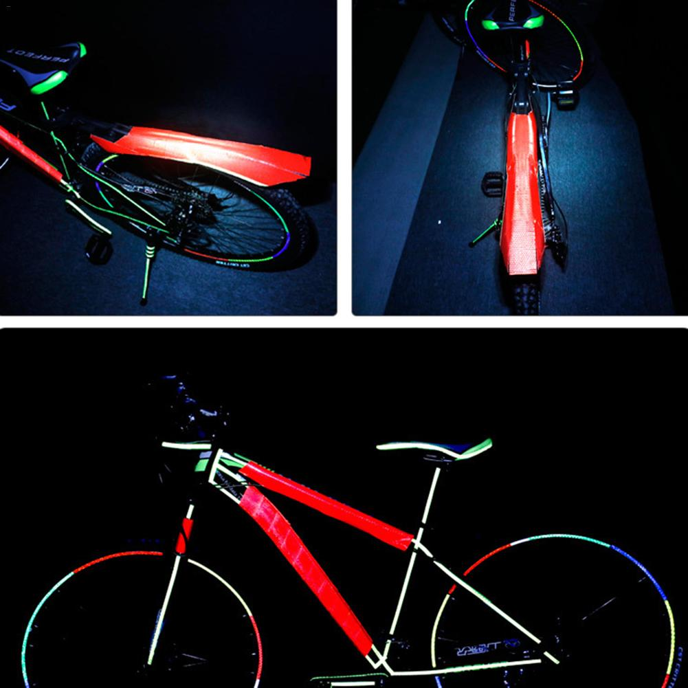 MTB Bike Reflective Tape Bike Stickers Accessories PVC Night Riding Strap Colorful 5cmx3m Reflective Bicycle Adhesive Tape Щипцы