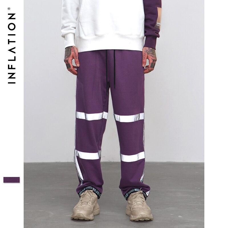 Tamaño A De Calle Plus Elástica Purple Suelta Casual Pantalones Rayas La W Cintura Inflación Moda Cordón 8889 Reflctive qgXwxP7