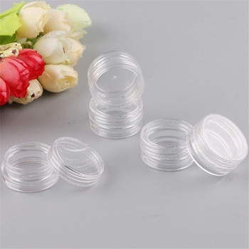 10pc Mini Refillable Bottles Cosmetic Empty Jar Acrylic Pot Eyeshadow Acrylic Makeup Bottle Jar Face Cream Box Container Storage цена 2017