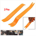 AUTO New 1 Set 2pcs Orange Plastic No-Scratch Audio Refit Set Car Panel Removal Tool
