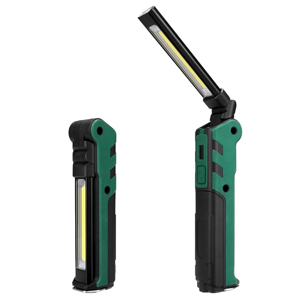 1 X Rechargeable COB LED Slim Work Light Lamp Flashlight Inspect Folding Torch
