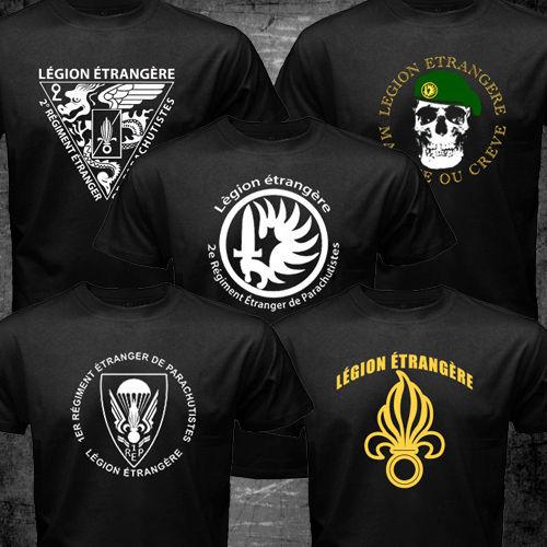 Neue Französisch Fremdenlegion Spezialeinheiten Weltkrieg Armee T t-shirt homme t-shirt männer Swag Baumwolle Tees USA GRÖßE S-3XL