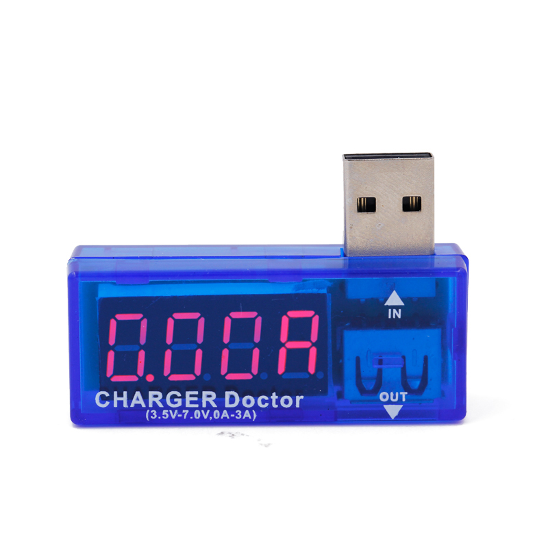 LCD Screen Mini Creative Phone USB Tester Portable Doctor Voltage Current Meter Mobile Power Charger Detector 40% off