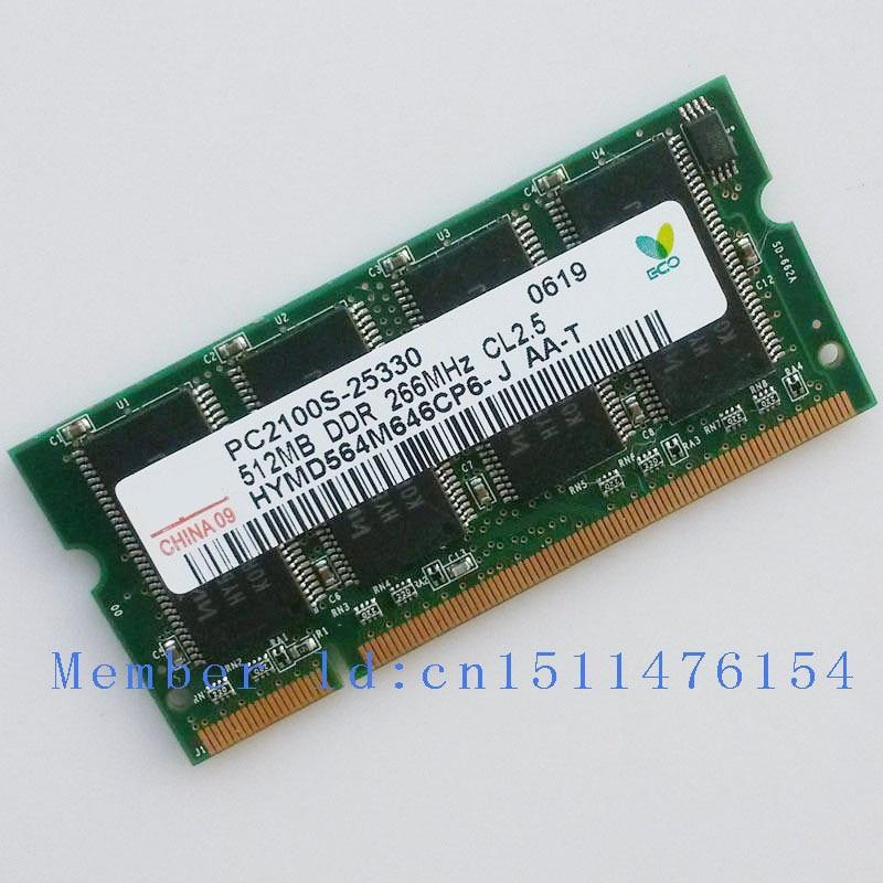 Hynix jauns RAM ddr 512MB PC2100 DDR266 266mhz 200pin DDR1 Sodimm klēpjdatoru atmiņa Piezīmjdatora RAM dators Bezmaksas piegāde
