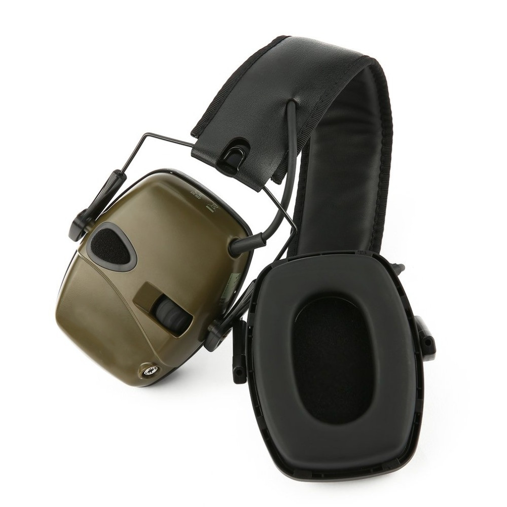 Foldable Electronic Shooting Earmuff Outdoor Sports Anti noise Impact Sound Amplification Tactical Hearing Protective Headset Helmet Headsets     - title=