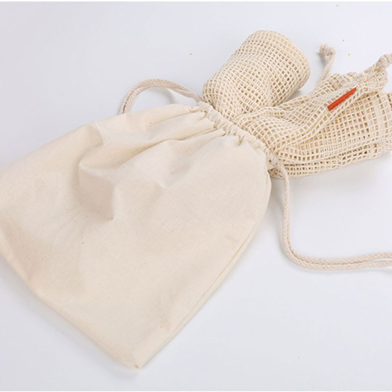 1Pc Reusable Vegetable And Fruit Groceries Toy Storage Bag Organic Cotton Multifunctional Bag