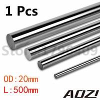 One Pcs Cnc Linear Shaft Chrome OD 20mm L 500mm WCS Round Harden Steel Rod Bar