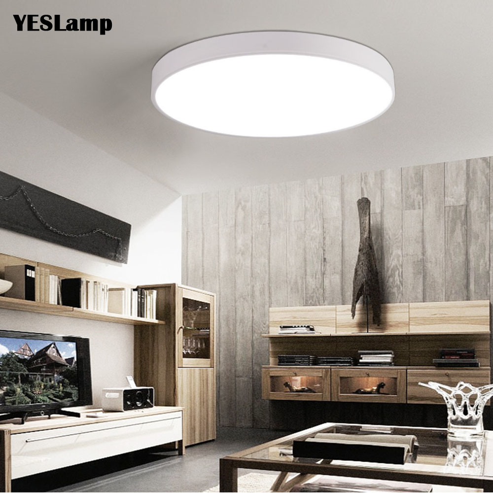 Enthusiastic Ultrathin Led Ceiling Light Modern Panel Lamp Lighting Fixture Living Room Bedroom Kitchen Surface Mount Flush Remote Control