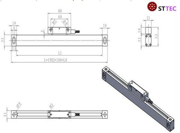 Commercio all'ingrosso tornio/foratura/fresatura macchina tavolo di lavoro 500mm sensore di posizione di misura - 2
