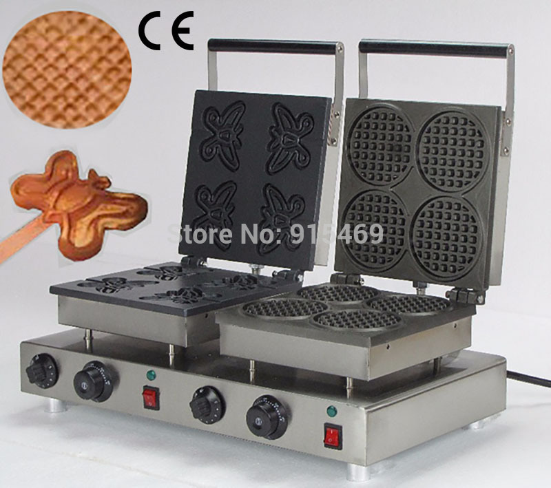 Free Shipping 2 in 1 Waffle Baking System 110v 220v Electric Commercial Butterfly on A Stick and Mini Waffle Maker abhishek kumar sah sunil k jain and manmohan singh jangdey a recent approaches in topical drug delivery system