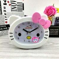 Children's Cartoon Jingle Cats Cute Night Lights Talking Lazy Music Creative Students' Small Alarm Clock Table Mute