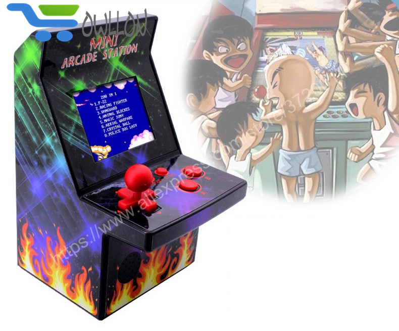 "Mini Arcade Game Machine System Classic Version 2.5"" LCD Screen Built-in 200 Old Style Video Games Console Retro Gaming Player"