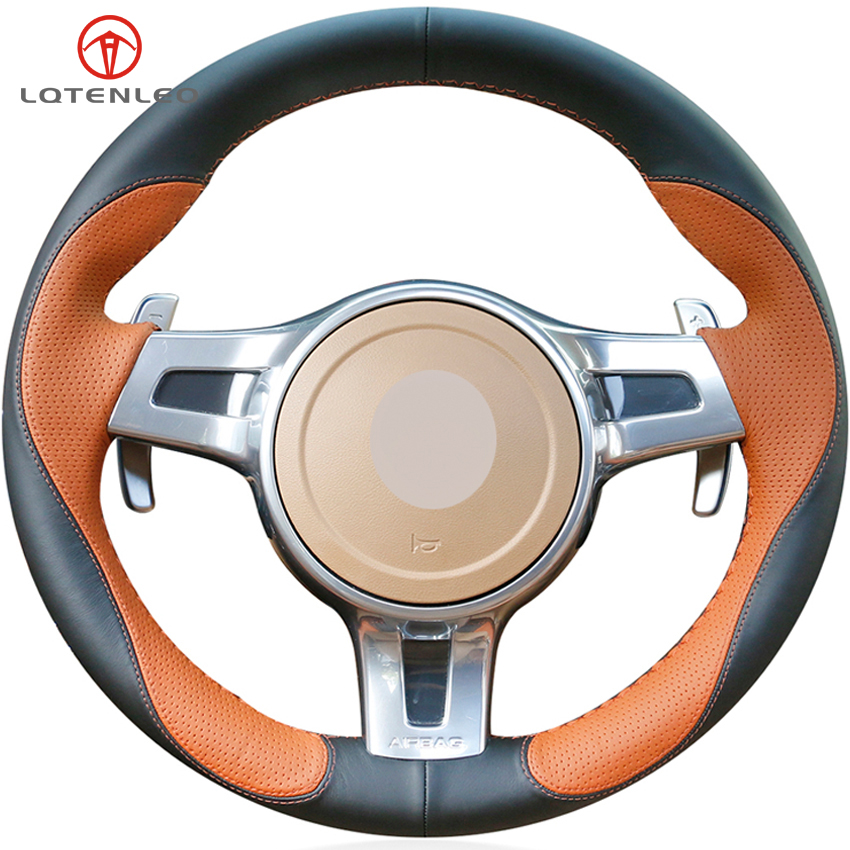 Aliexpress.com : Buy LQTENLEO Brown Black Leather Steering