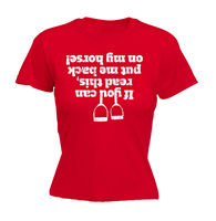 IF YOU CAN READ THIS FELL OFF MY HORSE WOMENS T SHIRT Tee Funny Mothers Day