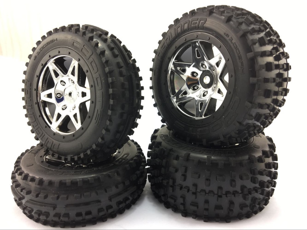Arrma Raider 1/10 Scale 2wd Desert Buggy Front/rear Sand Wheels/tires 4pcs Superior Materials Toys & Hobbies Parts & Accessories