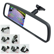 Free Shipping, New 4.3″ TFT-LCD Special Car Rearview Mirror Monitor with Original Bracket, Car Video Parking Assistance Monitor